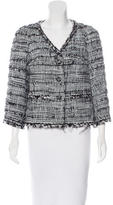 Chanel Feather-Trimmed Tweed Jacket