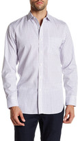 J.Crew Factory J. Crew Factory Regular Fit Cutaway Collar Grid Shirt