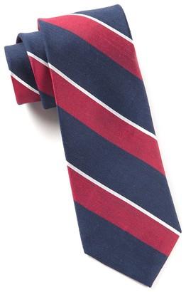 Tie Bar Patina Stripe Red Tie