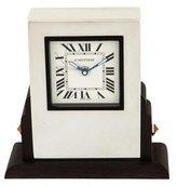 Cartier Ebony & Howlite Desk Clock