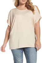 Bobeau Cold Shoulder Top (Plus Size)