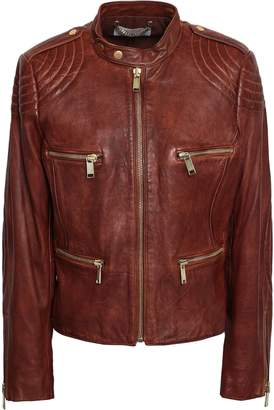 MICHAEL Michael Kors Quilted Leather Biker Jacket