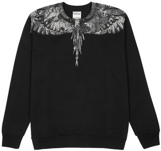 Marcelo Burlon County of Milan Camou Wings black printed cotton sweatshirt