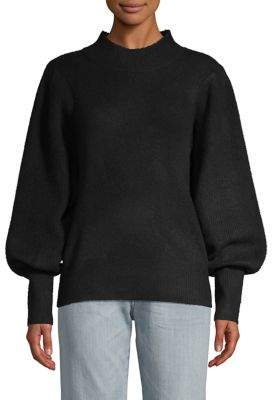 French Connection Flossy Puff-Sleeve Pullover Sweater