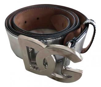 Dolce & Gabbana Silver Leather Belts