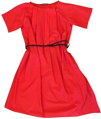 Sofie D'hoore Sofie Dhoore Red Cotton Dress for Women