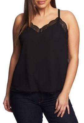 1.STATE Plus Wildflower Lace Racerback Tank