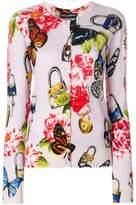 Dolce & Gabbana floral and padlock print cardigan