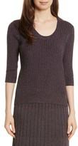 Rebecca Taylor Women's Metallic Rib Sweater