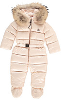 Moncler Crystal Snowsuit with Fur Hood