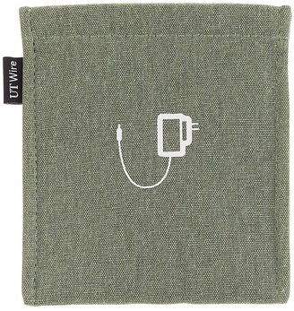 Container Store Sage Green Charger Accessory Pouch
