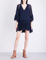 Alice + Olivia Alice & Olivia Zoey ruffled chiffon tunic dress
