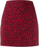 Saint Laurent animal print fitted mini-skirt