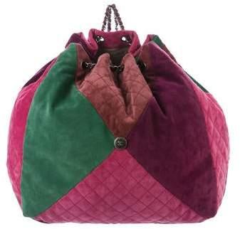 Chanel 2016 Patchwork Drawstring Backpack