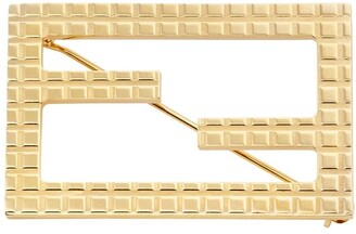 Fendi engraved Baguette brooch
