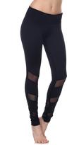 Electric Yoga Black Mesh-Stripe Leggings