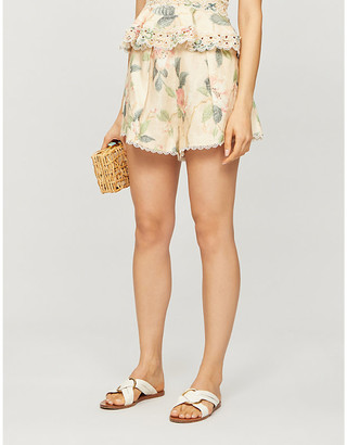 Zimmermann Kirra floral-print linen shorts