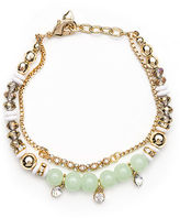lonna & lilly Soft Green and Goldtone Bead Bracelet