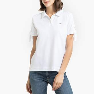 Tommy Hilfiger Cotton Polo Shirt with Tied-Sleeves