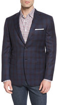 Brioni Windowpane Tic Two-Button Sport Coat, Navy