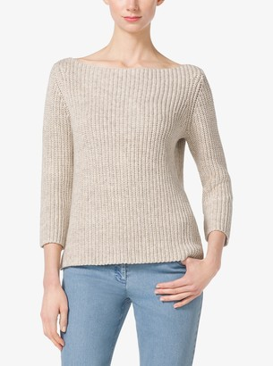 Michael Kors Shaker-Stitch Cotton and Linen Sweater