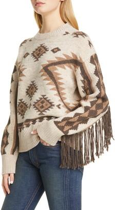 Polo Ralph Lauren Fringe Merino Wool Sweater