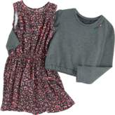 Ikks Printed dress and short sweatshirt
