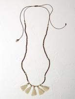 White Stuff Hessian tassel necklace