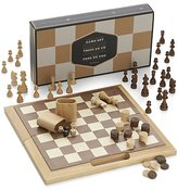 Crate & Barrel 3-in-1 Game Set: Chess Checkers Backgammon