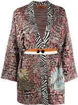 Missoni pattern mix cardi-coat