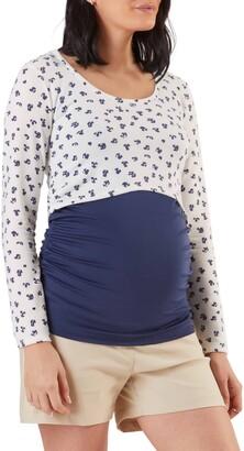 Stowaway Collection Long Sleeve Maternity/Nursing Crop Top