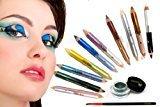 "ITAY Mineral High-Intensity Pigment Duo Eyeliner Pencils (10pk) + ITAY Mineral Gel Eyeliner ""Green"""