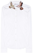 RED Valentino Appliquéd Cotton-blend Shirt