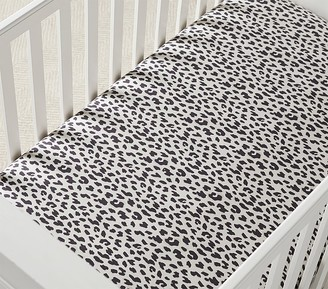 Pottery Barn Kids Organic Cheetah Print Crib Fitted Sheet