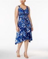 INC International Concepts Plus Size Printed High-Low Dress, Created for Macy's
