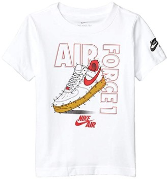 Nike Kids Short Sleeve Connect The Dots AF1 Graphic T-Shirt (Little Kids) (White) Boy's Clothing