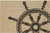 "Liora Manné Front Porch Indoor/Outdoor Ship Wheel Black 2'6"" x 4' Area Rug"