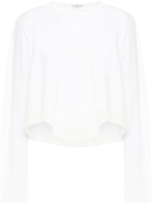 Clu Poplin-trimmed Cotton-jersey Top