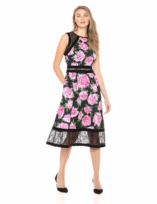 Tadashi Shoji Women's slvless Neoprene/lace Dress