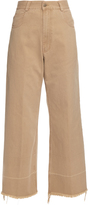 Rachel Comey Wide-leg cotton-twill cropped chino trousers