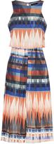 Oxford Zeta Pleated Dress Orange Multi X
