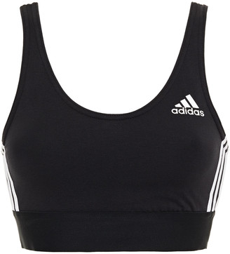 adidas Stretch-cotton Jersey Sports Bra