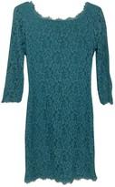 Diane von Furstenberg Green Lace Dress for Women