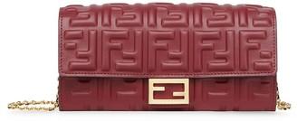 Fendi chain Baguette continental wallet
