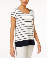Maison Jules Striped Border T-Shirt, Only at Macy's