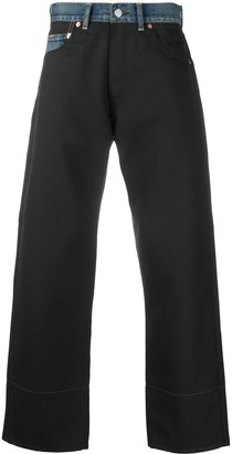 Junya Watanabe Denim-Panel Cropped Trousers