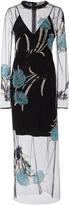 Diane von Furstenberg Floral Embroidered Overlay Dress