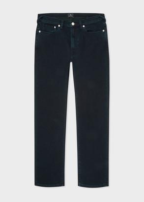 Paul Smith Men's Slim-Fit Navy 'Crosshatch Stretch' Over-Dye Jeans
