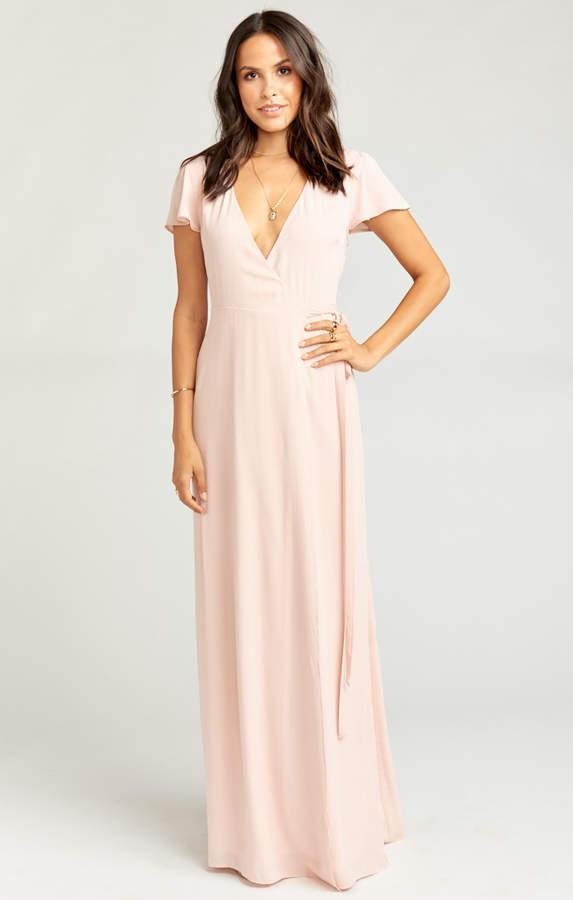 Show Me Your Mumu Noelle Wrap Dress ~ Dusty Blush Crisp