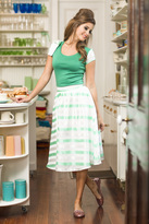 Shabby Apple Candy Striper Top Green
